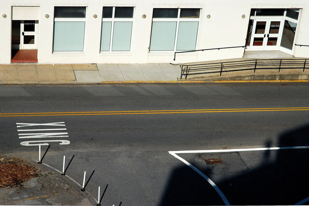 View looking down on Thomas Street from the North Campus Parking Deck, Athens, GA (Clarke County) June 2008