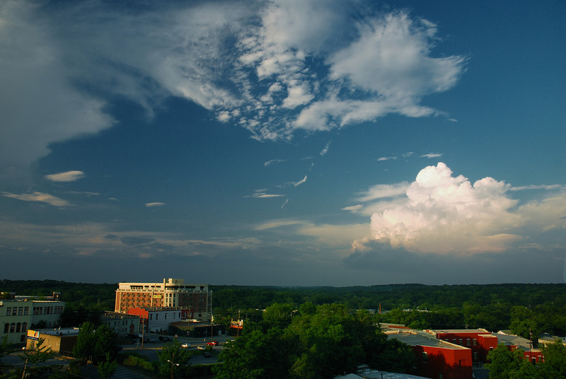 View from the North Campus Parking Deck, UGA, Athens, GA (Clarke County) June 2009