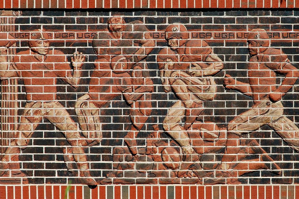 Mural at Sanford Stadium, University of Georgia, Athens, GA (Clarke County) June 2008