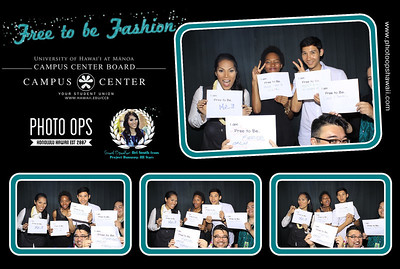 UH Manoa Free to Be Fashion Event (Stand Up Photobooth)