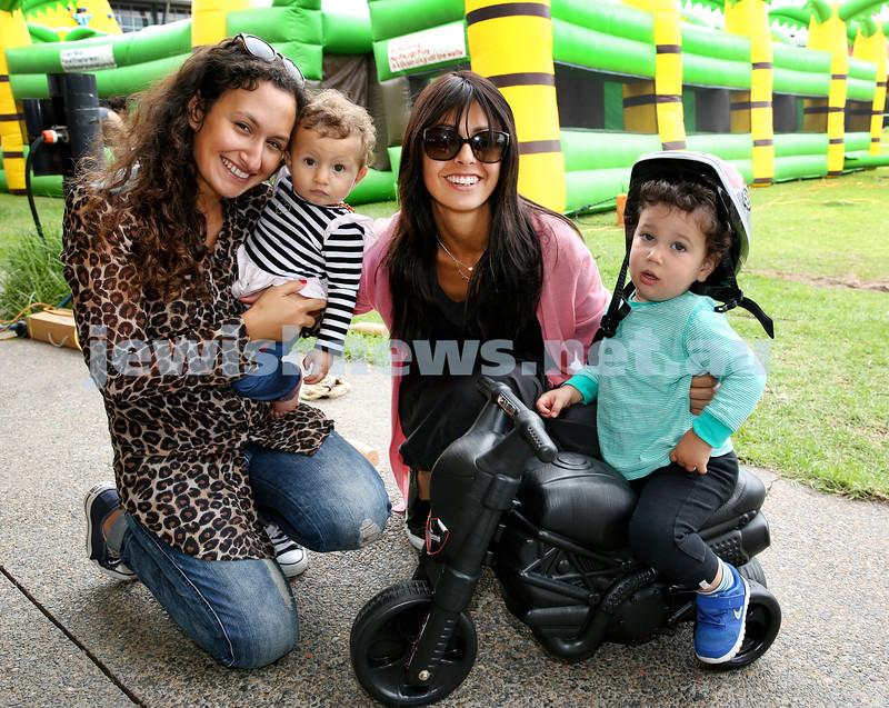 UIA Young Families event at The Entertainment Quarter. Samantha & Sarah Meguideche, Leyat & Jo Reuben. Pic Noel Kessel.