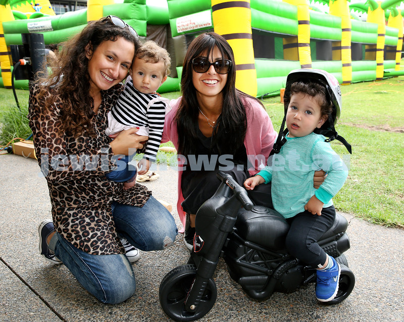 UIA Young Families event at The Entertainment Quarter. Samantha & Sarah Meguideche, Leyat & Jo Reuben. Pic Noel Kessel.