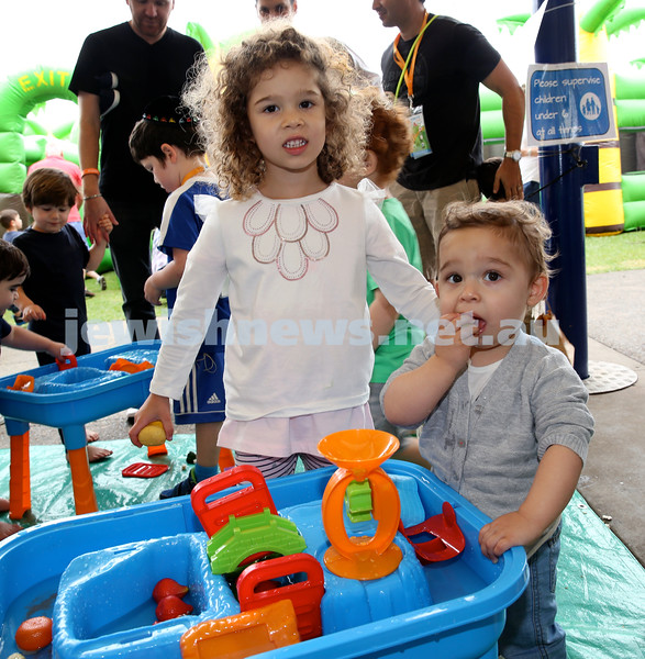 UIA Young Families event at The Entertainment Quarter. Jade & Remy Placks. Pic Noel Kessel