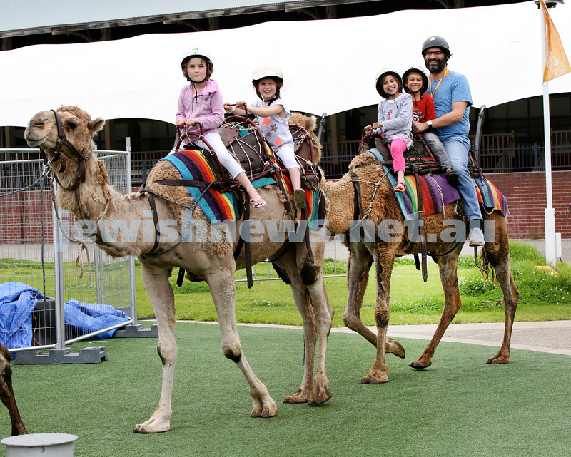 UIA Young Families event at The Entertainment Quarter. People enjoying camel rides. Pic Noel Kessel.