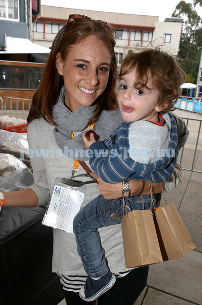 UIA Young Families fair at The Entertainment Quarter. Vanessa Sher with son Ariel.