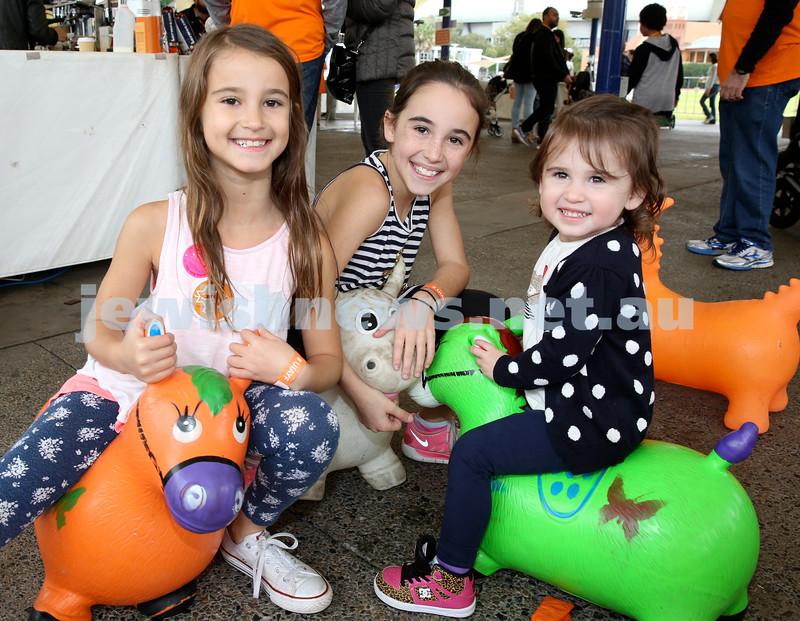 UIA Young Families fair at The Entertainment Quarter. Ashley, Chloe, Madison Cohen.