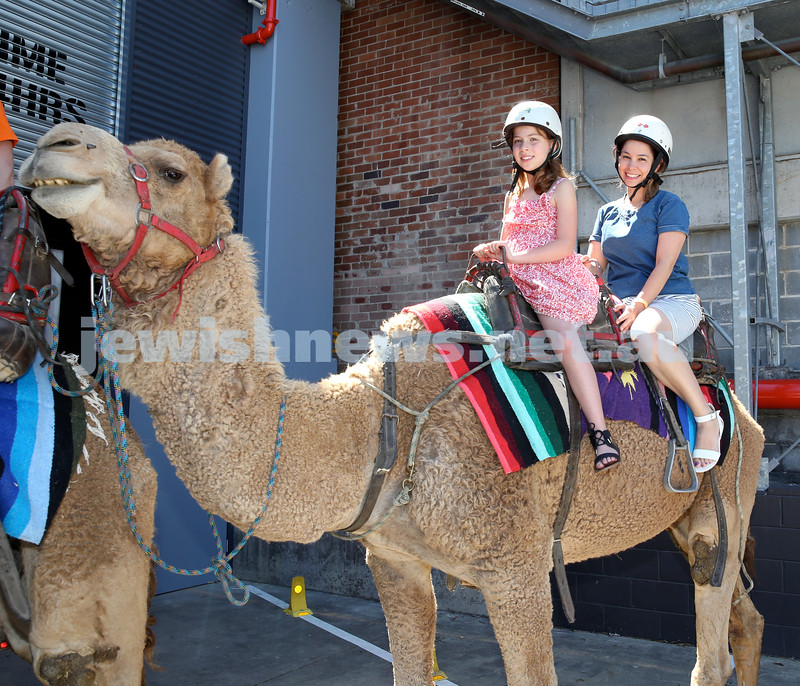 UIA Young Families Israeli Summer Days at The Venue. Jessica Want (left), Carmelle Moses. Pic Noel Kessel