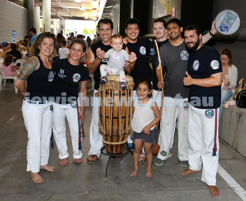 UIA Young Families Israeli Summer Days at The Venue. Capoeira performers. Pic Noel Kessel