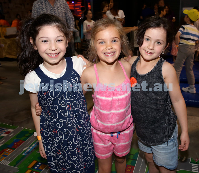 UIA Young Families Israeli Summer Days at The Venue. From left; Tali Neskin, Ella Josselsohn, Yasmin Port. Pic Noel Kessel
