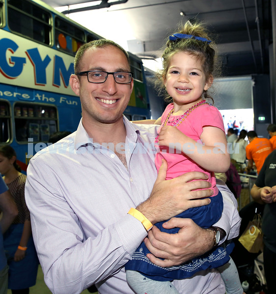 UIA Young Families Israeli Summer Days at The Venue. Rabbi Benji Levy and Shayna Levy. Pic Noel Kessel