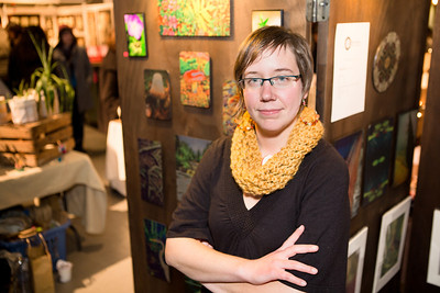 Andrea Dirheimer of Visionary Images with her photography display.