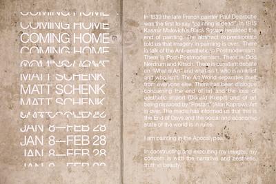 Coming Home: Matt Schenk Reception