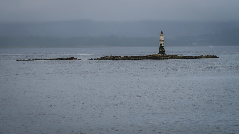 The lighthouse off the coast of Dunoon