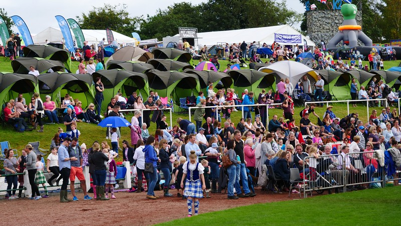 A sea of tents and spectators at the Cowal Games