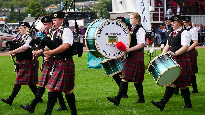 Pipe band at the Cowal Games