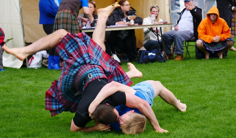 Wrestling competition at the Cowal Games