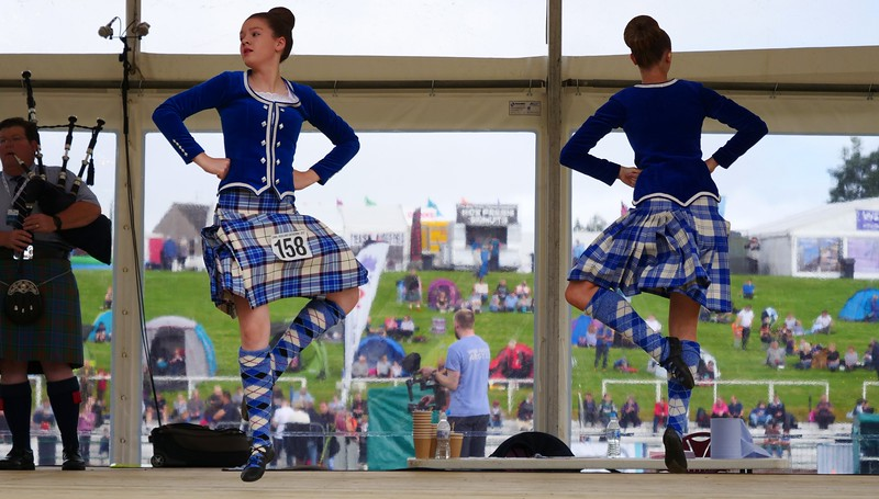 Watching the Highland Dancing competition
