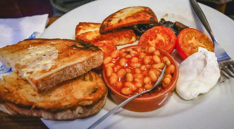 Vegetarian Breakfast at Cafe Gandolfi