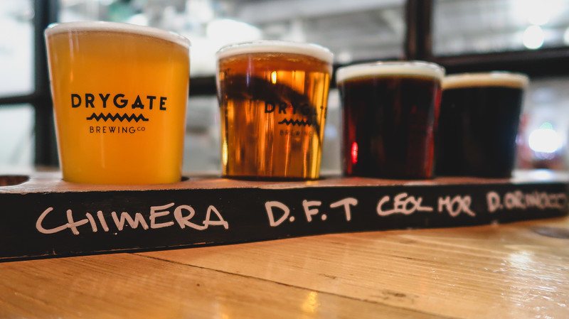 A beer tasting at Drygate Brewery in Glasgow
