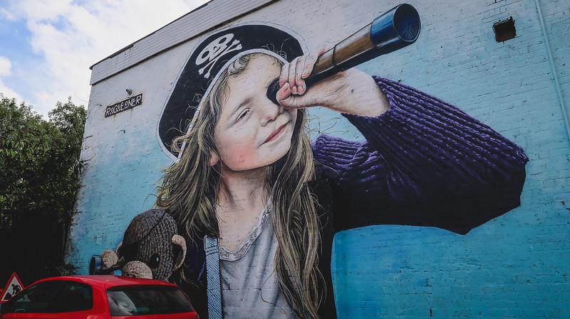 Glasgow's East End has lots of street art