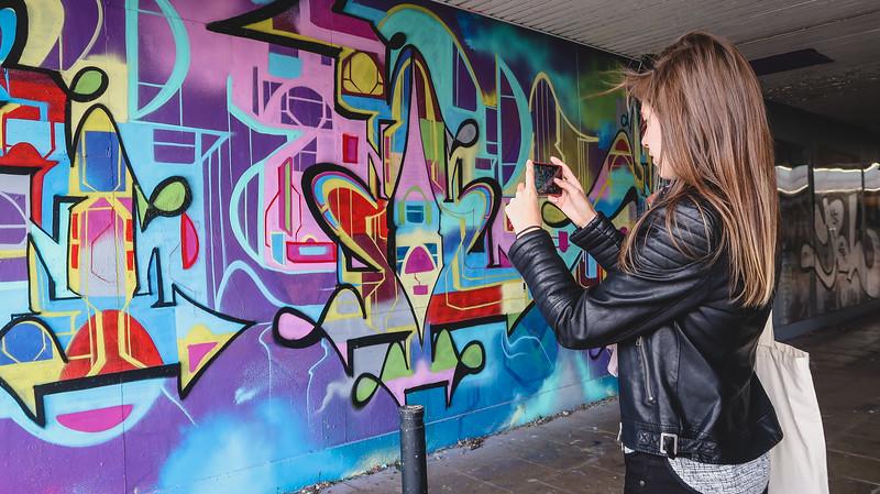 Street art tour in East Croydon