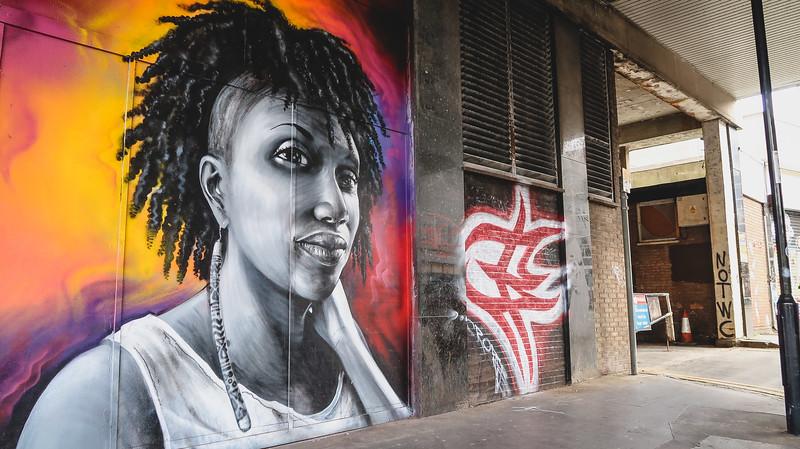 London's art scene includes street art in Croydon
