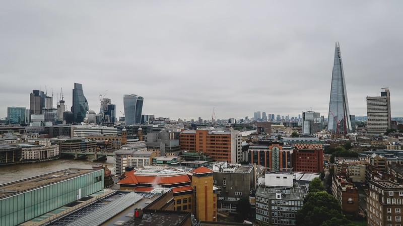 Views of London from Blavatnik Building