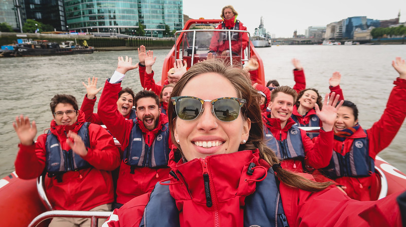 Cruise down the River Thames with Thames Rockets