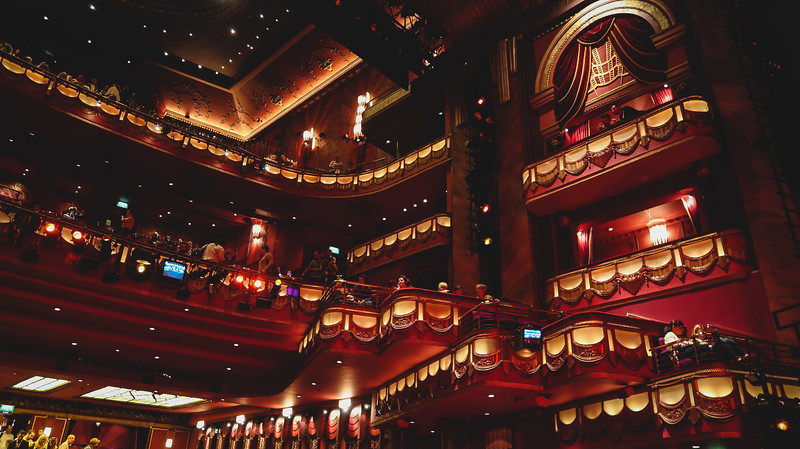 Inside the Prince Edward Theatre in London