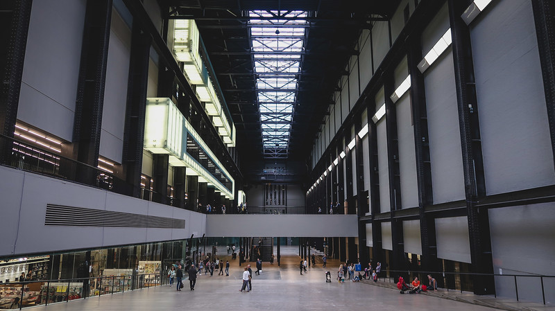 Inside the Tate Modern, set in a former power station