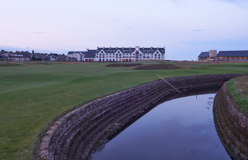 Evening walk on the hallowed turf of Carnoustie, 18th hole