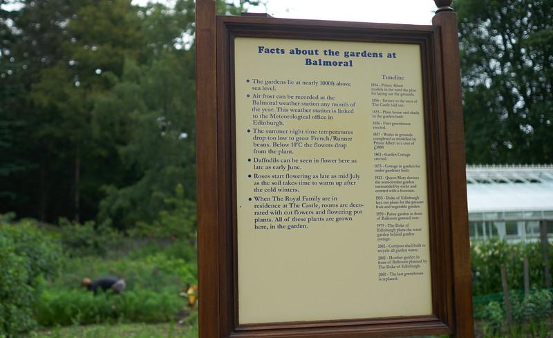 Balmoral garden info.