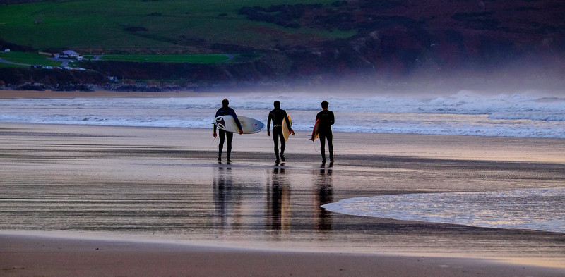 Surfers, Woolacombe Bay, Devon