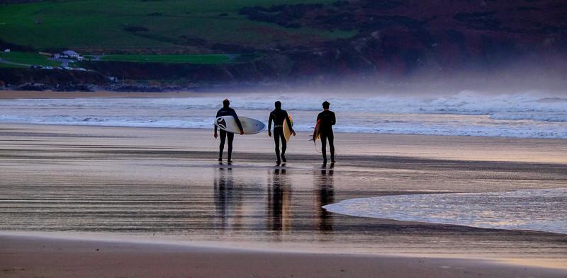 Surfers, Woolacombe Bay, Devon