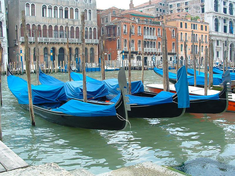 Gondolas, Grand Canal, Venice