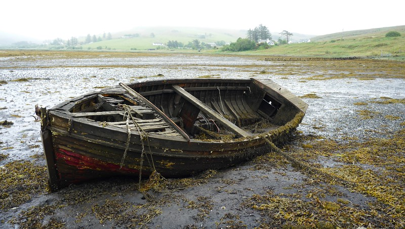 Old boat head of Loch Harport Isle of Skye