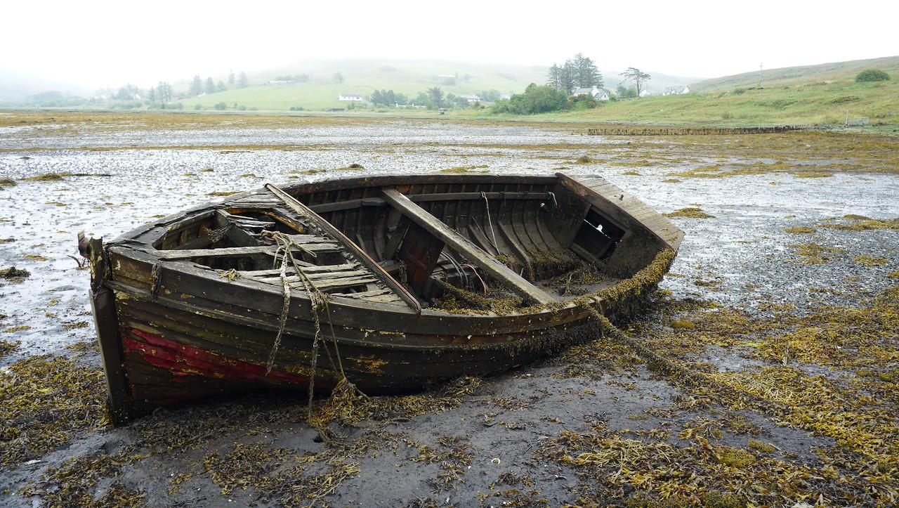 Old boat head of Loch Harport Isle of Skye