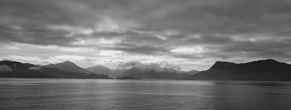 Scottish mainland from half way between Armadale Isle of Skye and Mallaig