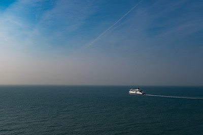 P&O Ferry on the way over from Dover to Calais