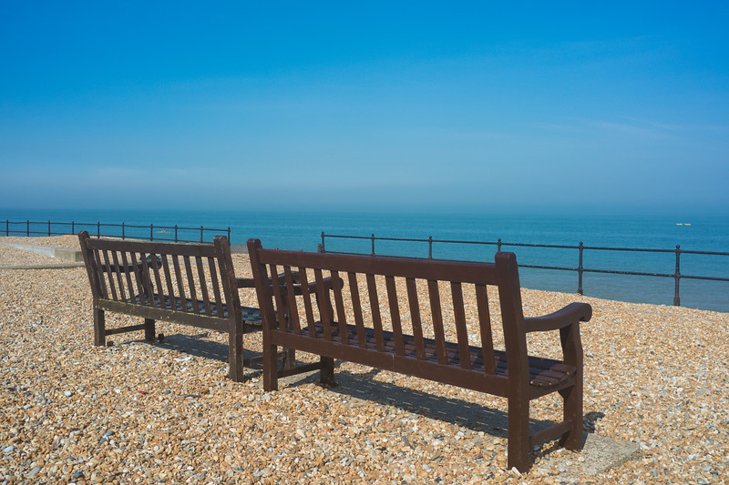 Beach Chairs outside the Zetland Arms Kingsdown near Dover