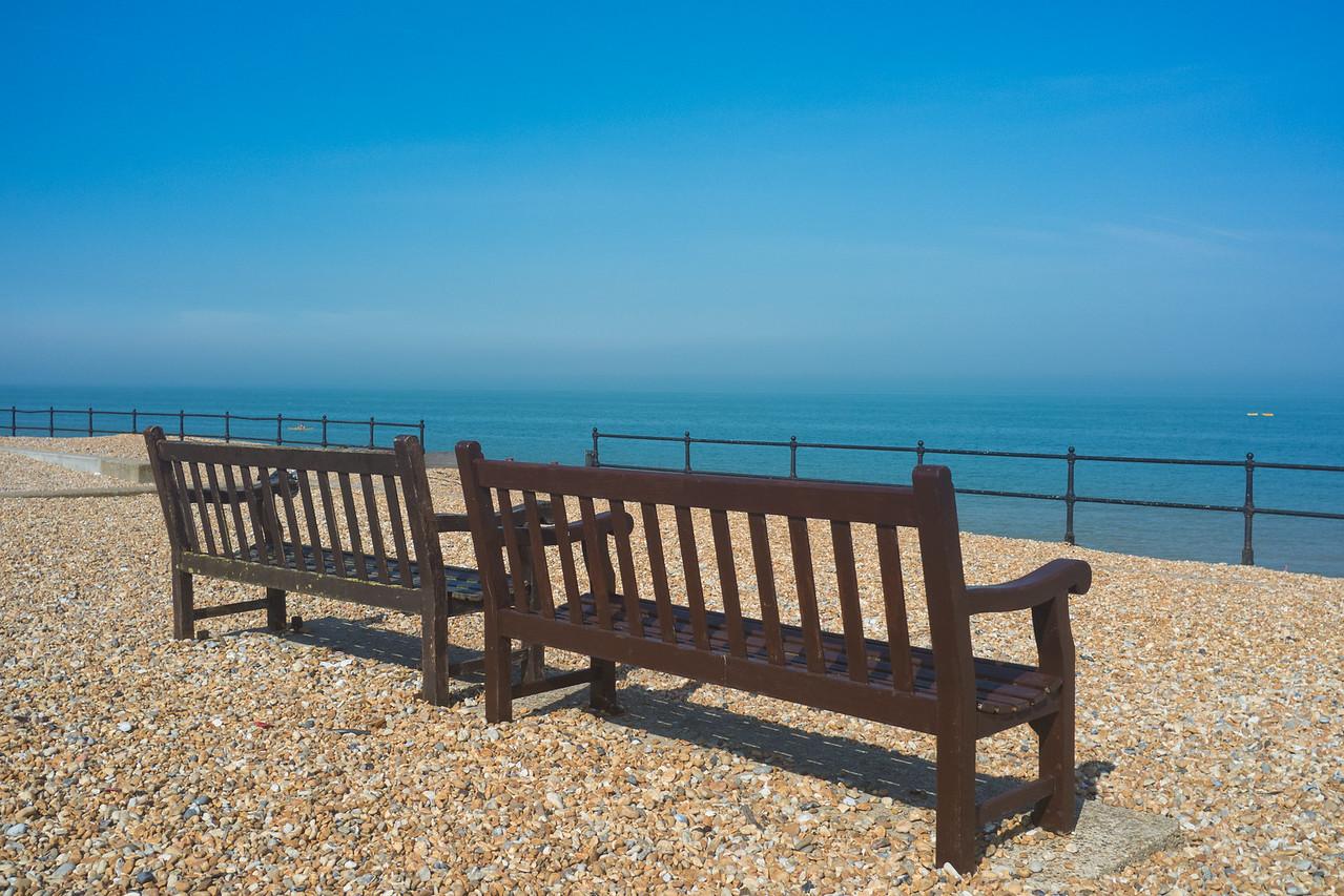 Beach Chairs outside the Zetland Arms Kingsdown near Dover