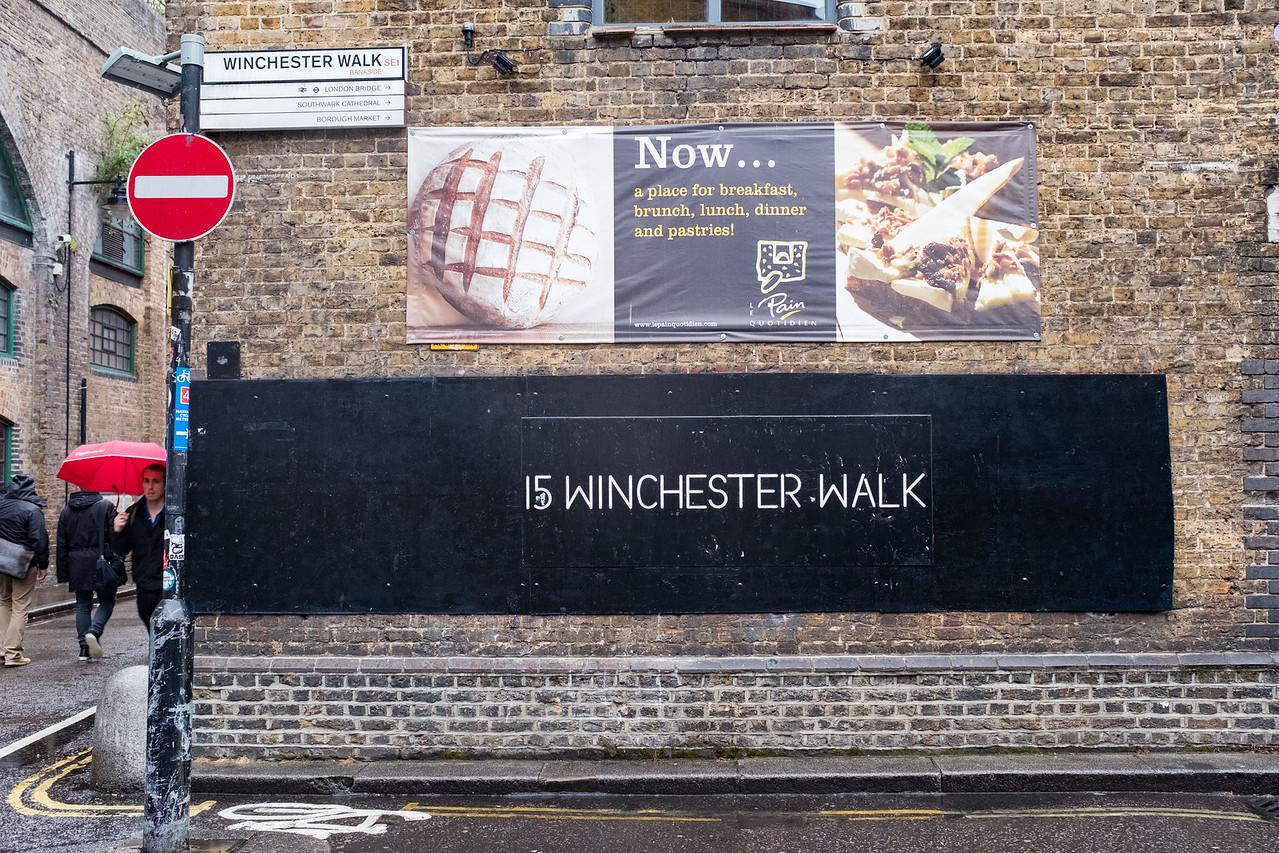 Winchester Walk  London UK May 2017