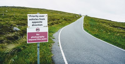 """No photography beyond this point"" South Uist, Outer Hebrides"