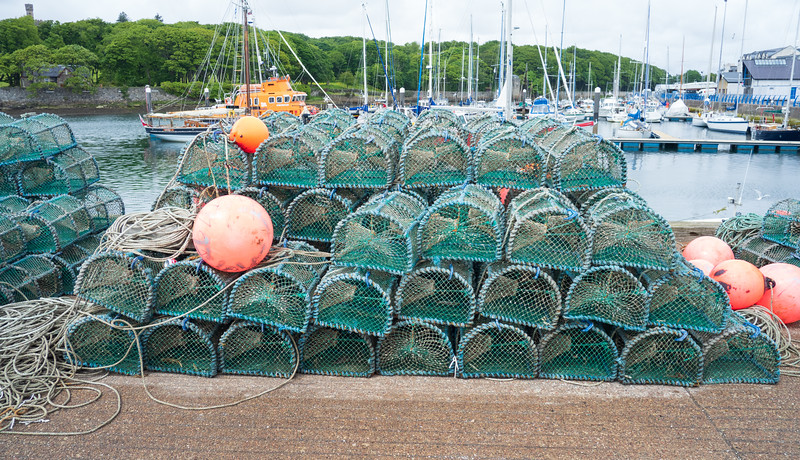 Lobster Pots Stornoway Harbour Outer Hebrides