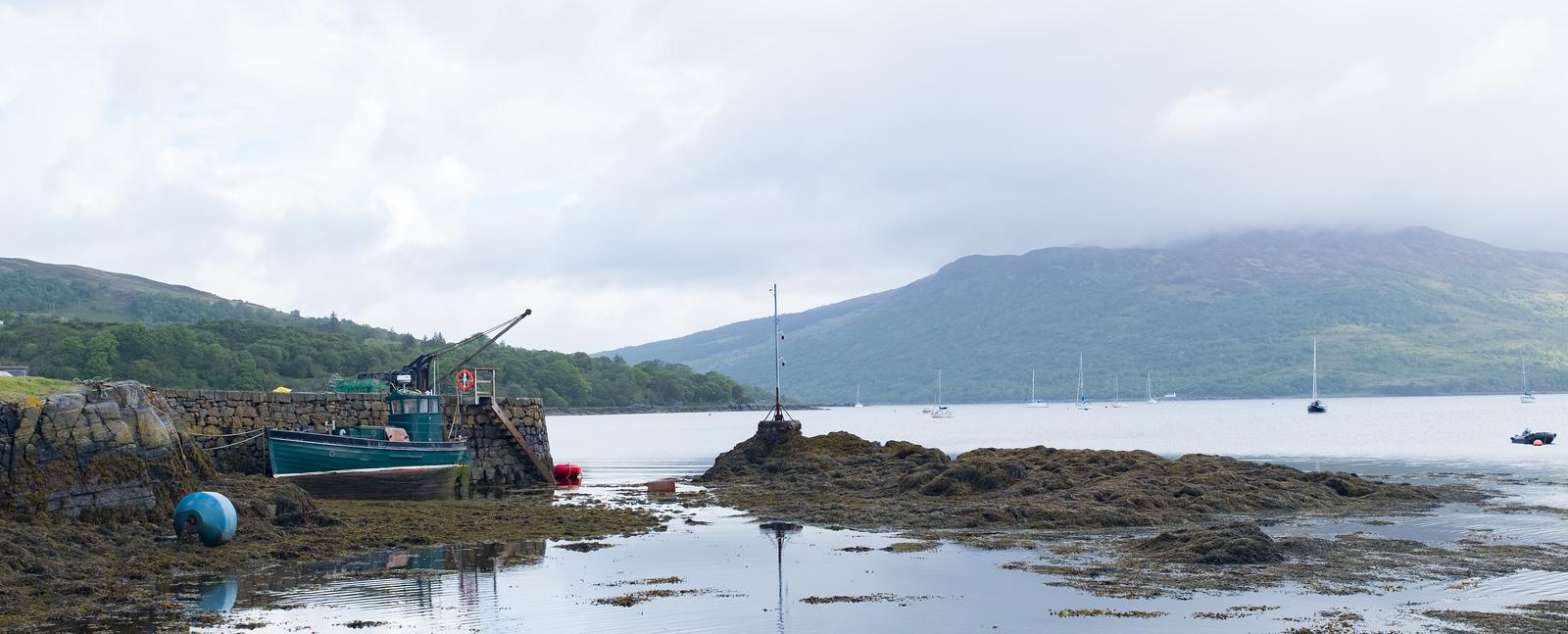 Boat Harbour Isleornsay,  Isle of Skye May 2017