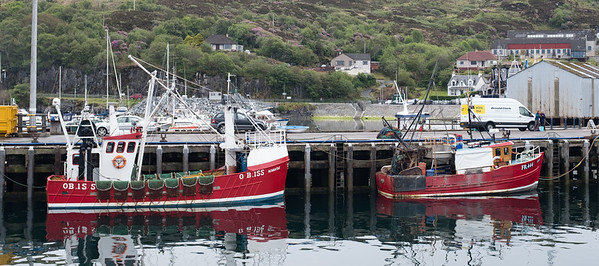 Fishing Boats Mallaig Harbour Scotland May 2017