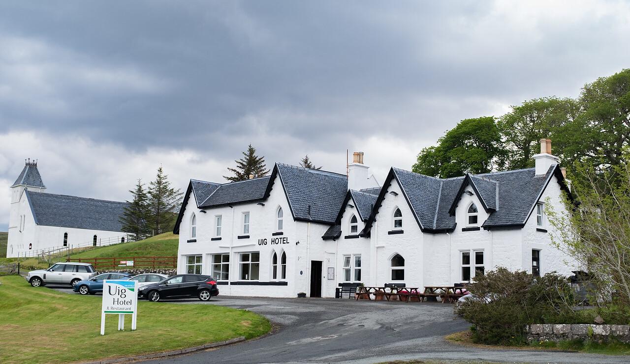 Lunch Stop Uig Hotel Isle of Skye May 2017