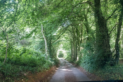 On the road to Park Gate Down near Dover Kent UK
