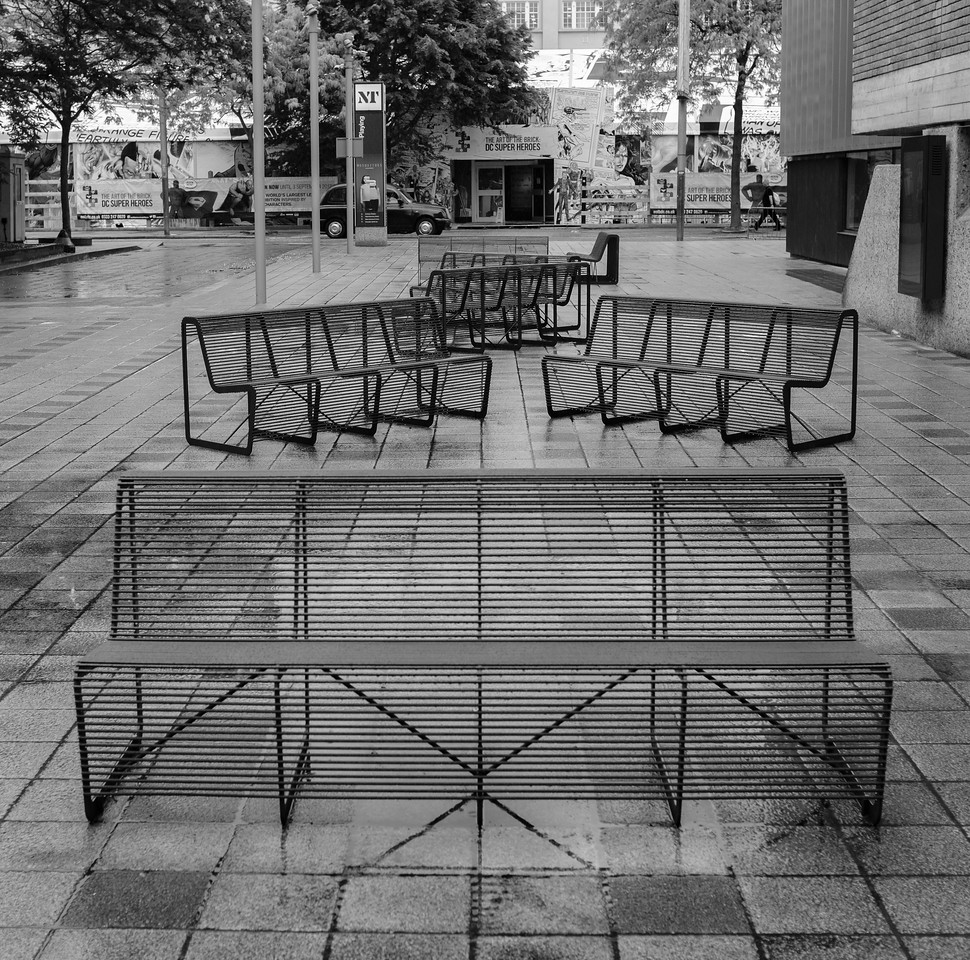Black and White Chairs National Theatre London May 2017
