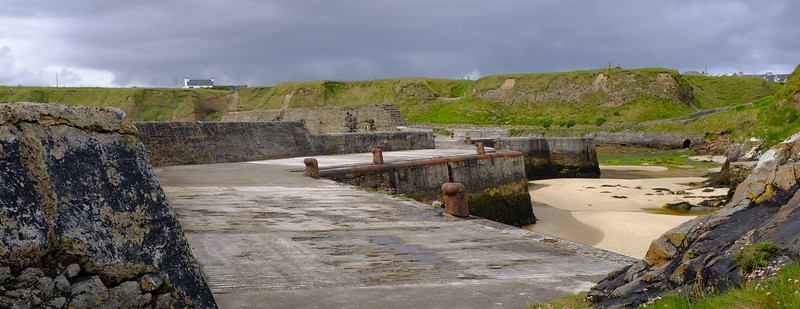 Wharf at Port Ness far north of  Isle Lewis Outer Hebrides Jun 2017